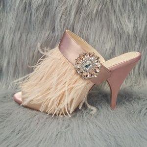 RARE Zara Jeweled Feather Heels